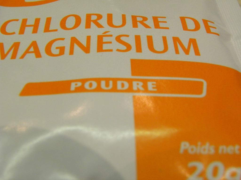sachet chlorure magnésium